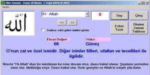 Esma-ül Hüsna Zikir ve Ezber Programı Ekran Görüntüsü