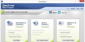 ZoneAlarm Pro Firewall Ekran Görüntüsü