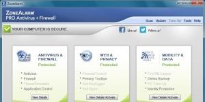 ZoneAlarm PRO Antivirus Firewall Ekran Görüntüsü
