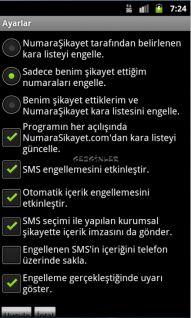NumaraSikayet SMS Engelleme Resimleri