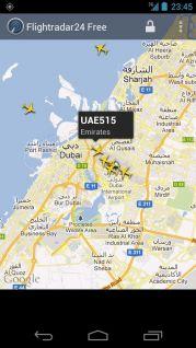 Android için flightradar24 free ekran görüntüleri