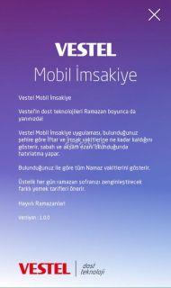 Vestel Mobil İmsakiye Resimleri