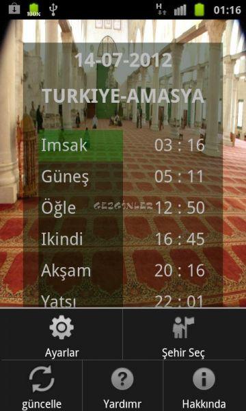 Namaz Vakitleri Diyanet İndir (Android) - Gezginler Mobil