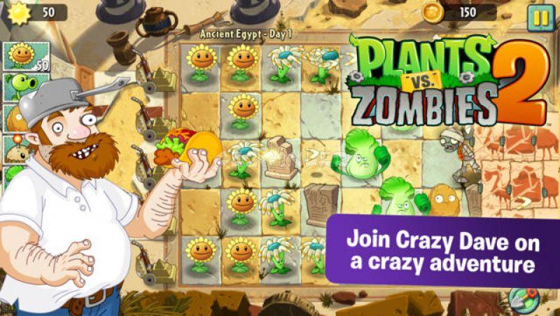 Iphone ve ipad için plants vs zombies 2 ekran görüntüleri