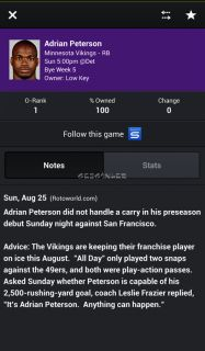 Yahoo! Fantasy Sports Football Resimleri