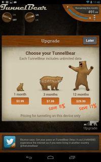 TunnelBear VPN Resimleri