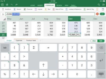 iPad için Microsoft Excel Resimleri