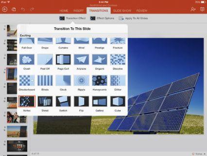iPad için Microsoft PowerPoint Resimleri