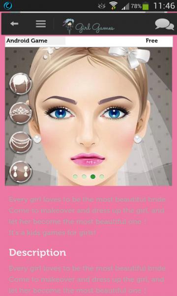 Android için kız oyunları ekran görüntüleri
