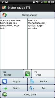Sesten Yazıya Çeviri TTS Resimleri