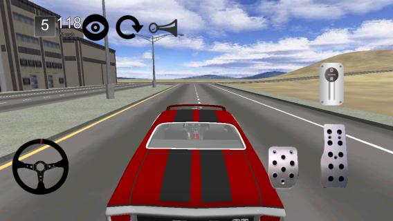 Android için klasik araba simülatörü 3d ekran görüntüleri