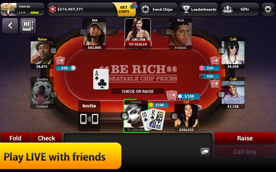 how to find friends on zynga poker