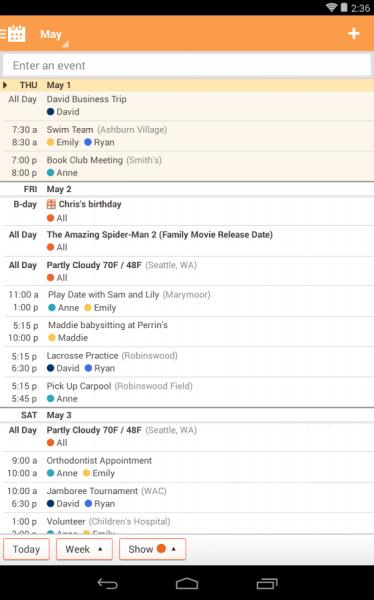Family Calendar Android : Cozi family calendar lists İndir android gezginler mobil