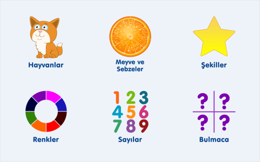 Okul Öncesi Eğitim Türkçe Oyun Resimleri