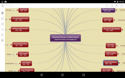 Mindomo (mind mapping) Resimleri
