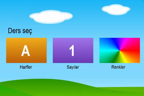 Türkçe Harfler Sayılar Renkler Resimleri