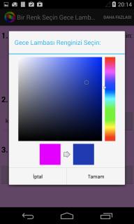 Bir Renk Seçin Gece Lambası Resimleri