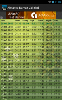 Almanya Namaz Vakitleri 2015 Resimleri
