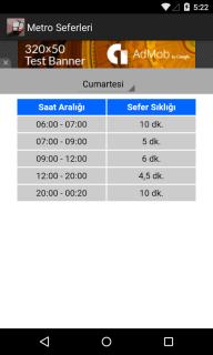 İzmir Metro Sefer Saatleri Resimleri