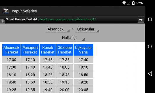 İzmir Vapur Sefer Saatleri Resimleri