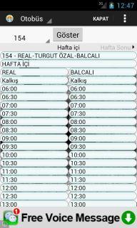 Adana B.B. Otobüs Saatleri Resimleri