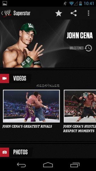 Android için WWE Ekran Görüntüleri