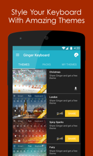Ginger Klavye Türkçe+Ingilizce Resimleri