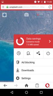 Opera Mini beta web tarayıcı Resimleri