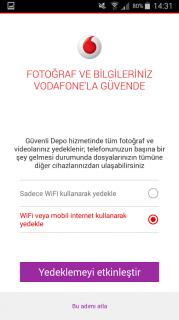 Vodafone Güvenli Depo Resimleri