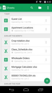 Google E-Tablolar Resimleri