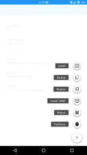 TWRP Manager  (Requires ROOT) Resimleri