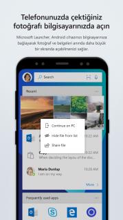 Microsoft Launcher Resimleri