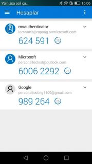 Azure Authenticator Resimleri