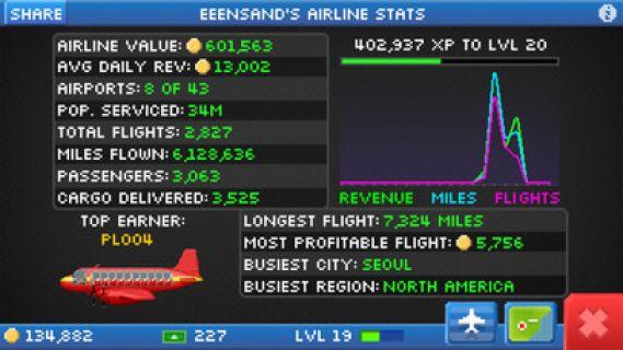 Pocket Planes - Free Airline Management Game Resimleri