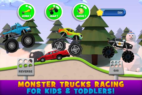 Monster Trucks Game for Kids 2 Resimleri