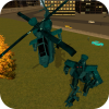 Android Robot Helicopter Resim