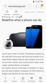 Samsung Internet Resimleri