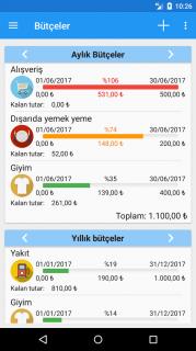 Hızlı Bütçe - Gider ve Bütçe Yöneticisi Resimleri