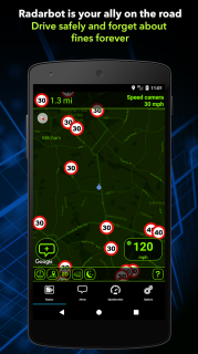 Radarbot Free: Speed Camera Detector & Speedometer Resimleri