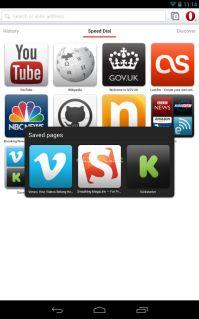Opera Mobile web browser Resimleri