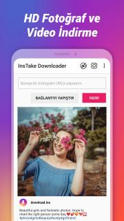 InsTake - Instagram İçin Fotoğraf ve Video İndir Resimleri
