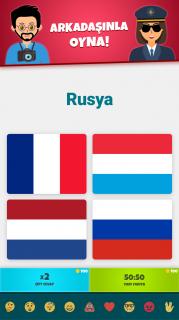 Ülke Bayrakları 2: Harita - Coğrafya Quizi Resimleri