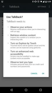 Google TalkBack Resimleri