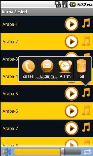 Android için Korna Sesleri Ekran Görüntüleri