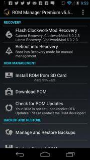 ROM Manager Resimleri