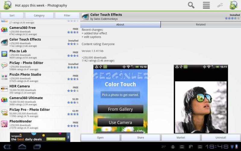 Android için AppBrain App Market Ekran Görüntüleri
