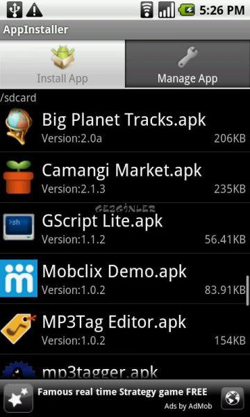 Android için AppInstaller Ekran Görüntüleri