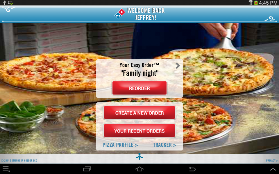 implementation of pizza tracker by dominos • the image changes with each change a customer makes • ordering progress can be viewed by pizza tracker • pizza tracker displays a horizontal bar that tracks an order's progress graphically • in 2010, domino's introduced an online polling system to continuously upload information from local stores.