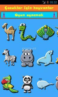 Android için çocuklar için hayvanlar ekran görüntüleri