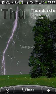 True Weather LWP Free Resimleri